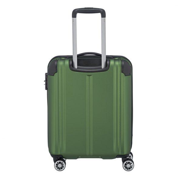 Bőrönd TRAVELITE City S zöld 4 kerekű kabin méret