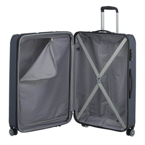 Bőrönd TRAVELITE City L kék 4 kerekű bővíthető nagy méret