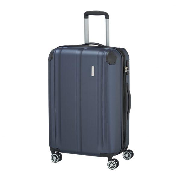 Bőrönd TRAVELITE City M kék 4 kerekű bővíthető közepes méret