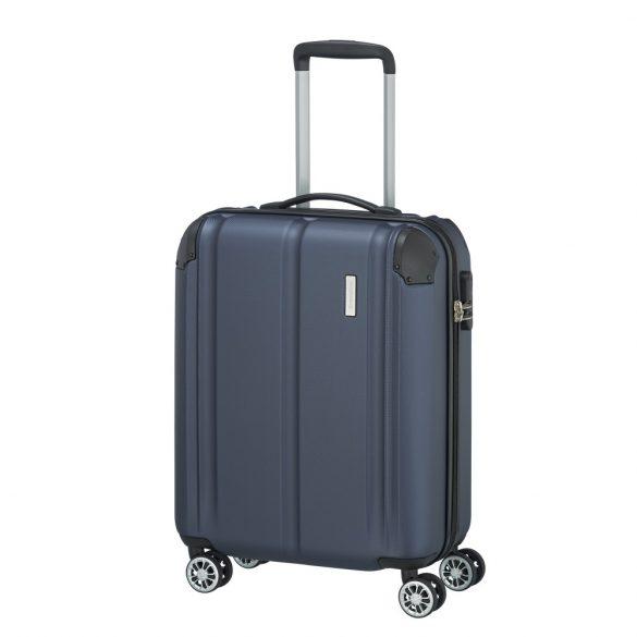 Bőrönd TRAVELITE City S kék 4 kerekű kabin bőrönd