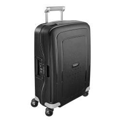 Samsonite S'cure spinner (4 kerék) 55cm fekete kabin bőrönd
