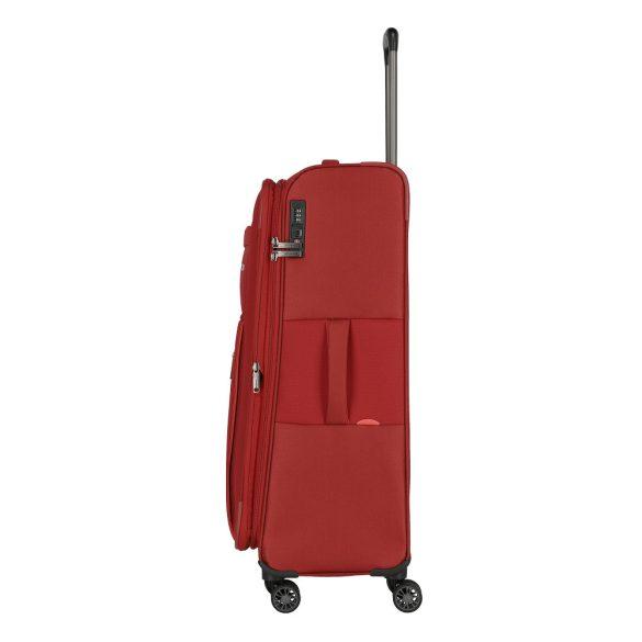 Travelite CAPRI L piros 4 kerekű bővíthető nagy bőrönd