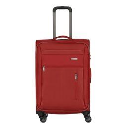 Bőrönd TRAVELITE Capri M piros 4 kerekű bővíthető közepes méret