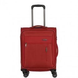 Travelite CAPRI S piros 4 kerekű kis kabin bőrönd