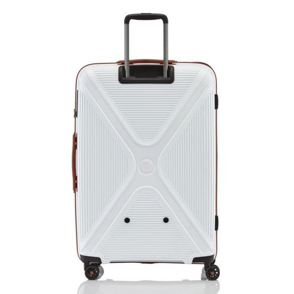 Bőrönd TITAN Paradoxx L fehér 4 kerekű nagy méret