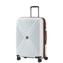 Titan PARADOXX M fehér 4 kerekű bővíthető közepes bőrönd