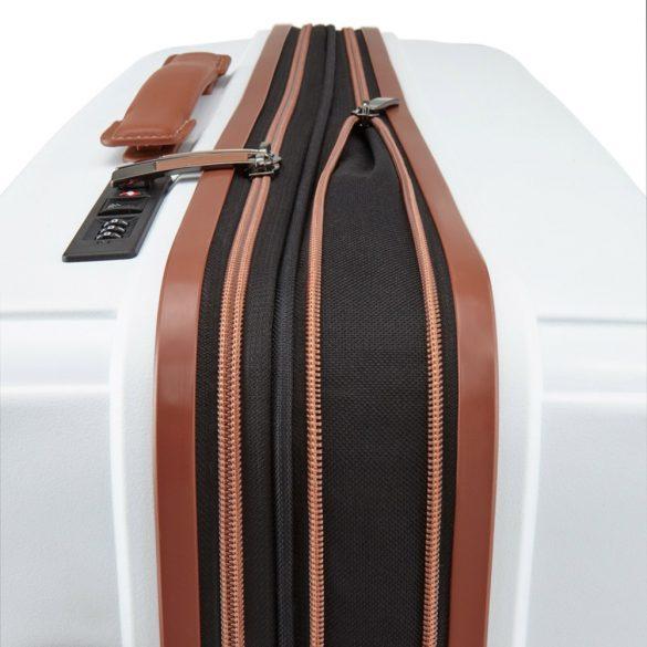 Bőrönd TITAN Paradoxx M fehér 4 kerekű bővíthető közepes méret