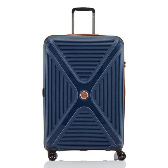 Bőrönd TITAN Paradoxx L kék 4 kerekű nagy méret