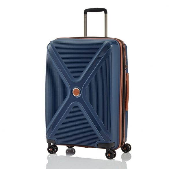 Bőrönd TITAN Paradoxx M kék 4 kerekű bővíthető közepes méret