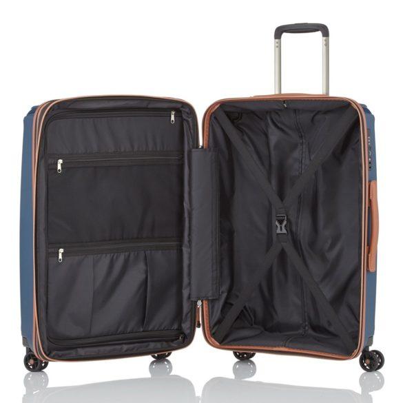 Titan PARADOXX M kék 4 kerekű bővíthető közepes bőrönd