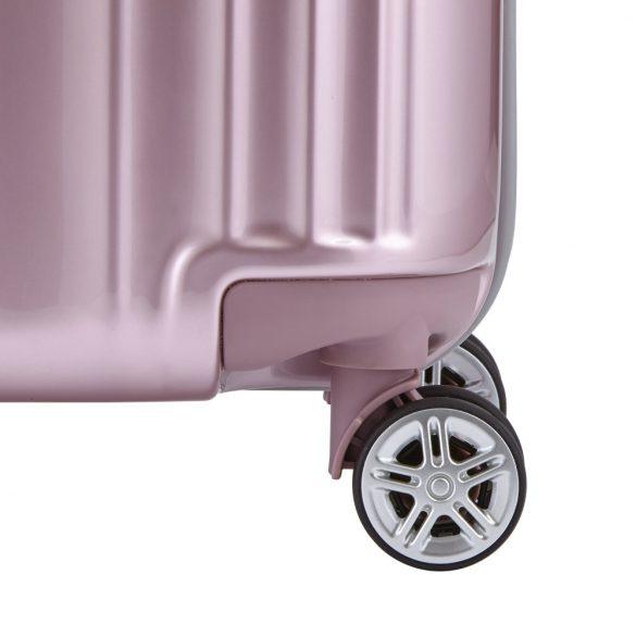 Bőrönd TITAN Spotlight Flash S rózsaszín 4 kerekű kabin bőrönd