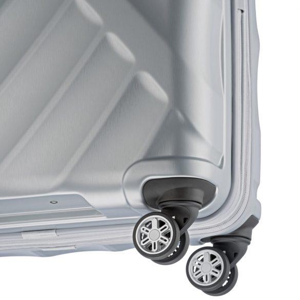 Bőrönd TITAN Shooting Star L ezüst 4 kerekű nagy bőrönd