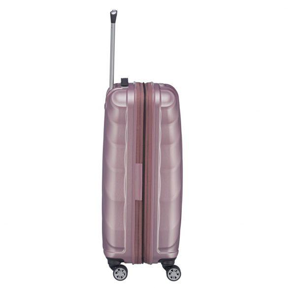 Bőrönd TITAN Shooting Star M rózsaszín 4 kerekű bővíthető közepes bőrönd