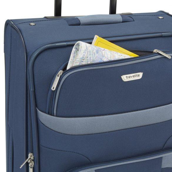 Bőrönd TRAVELITE Orlando S kék 2 kerekű kabin méret