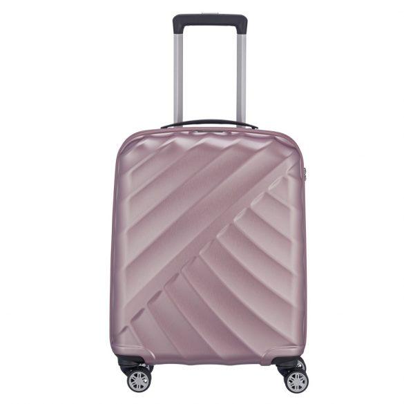Bőrönd TITAN Shooting Star S rozsaszín 4 kerekű kabin bőrönd
