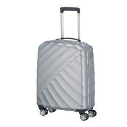 Bőrönd TITAN Shooting Star S ezüst 4 kerekű kabin bőrönd