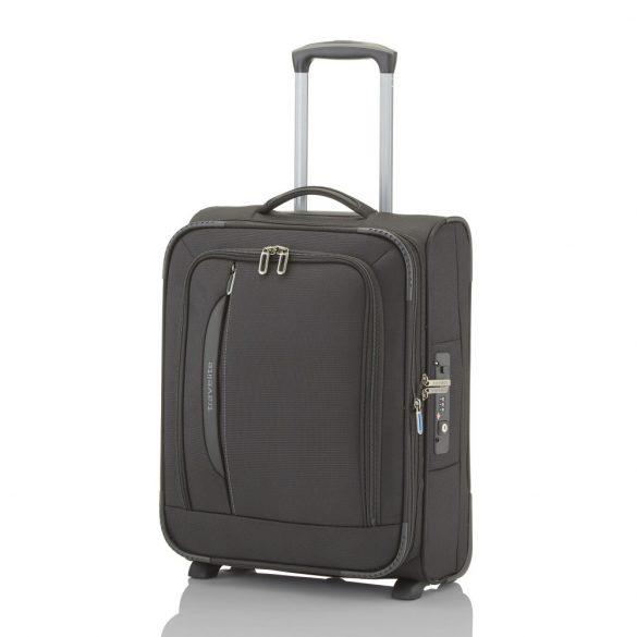 Bőrönd TRAVELITE Crosslite S fekete 2 kerekű bővíthető kabin méret