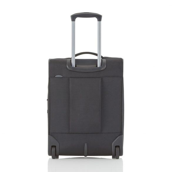 Travelite CROSSLITE S fekete 2 kerekű bővíthető kis kabin bőrönd