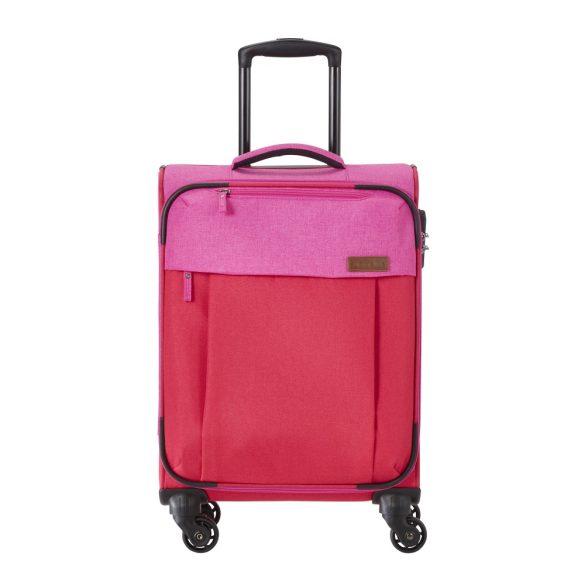 Travelite NEOPAK S piros-pink négykerekű kis kabin bőrönd