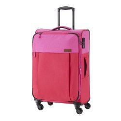 Travelite NEOPAK M piros-pink négykerekű bővíthető közepes bőrönd