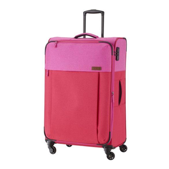 Bőrönd TRAVELITE Neopak L piros-pink 4 kerekű bővíthető nagy méret