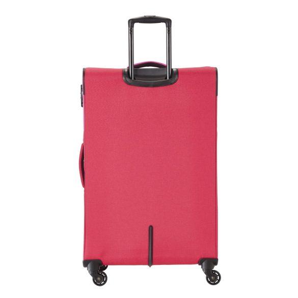 Travelite NEOPAK L piros-pink négykerekű bővíthető nagy bőrönd