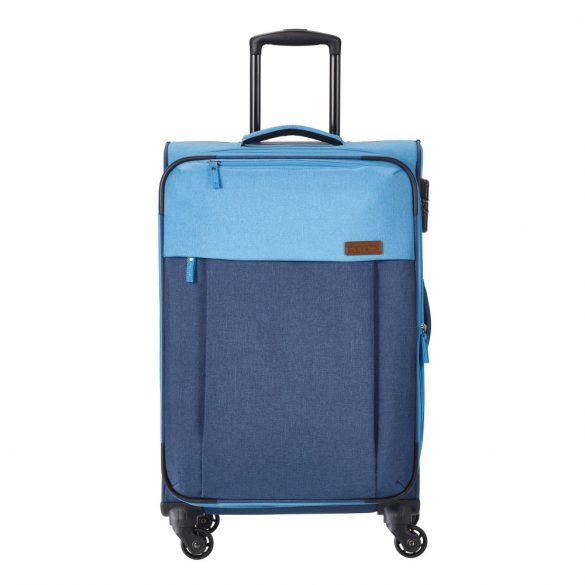 Bőrönd TRAVELITE Neopak M kék 4 kerekű bővíthető közepes méret