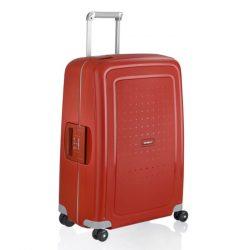 Samsonite S'cure spinner (4 kerék) 69cm piros közepes bőrönd