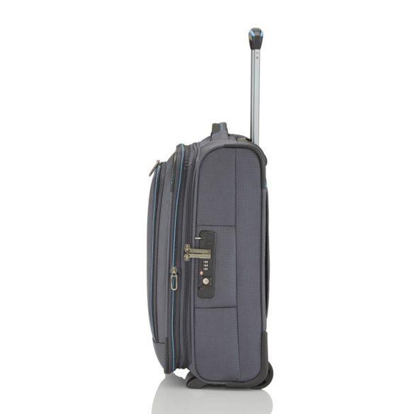 Bőrönd TRAVELITE Crosslite S antracit 2 kerekű bővíthető kabin méret