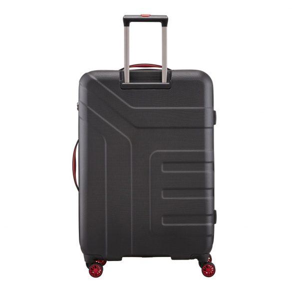 Bőrönd TRAVELITE Vector L fekete 4 kerekű nagy bőrönd