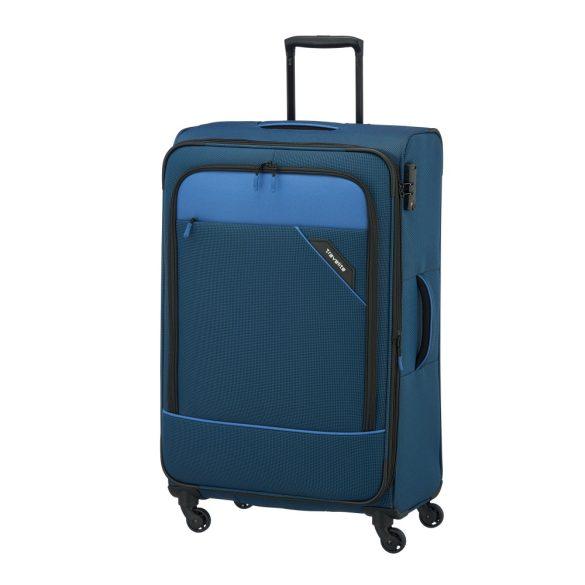 Bőrönd TRAVELITE Derby L kék 4 kerekű bővíthető nagy méret