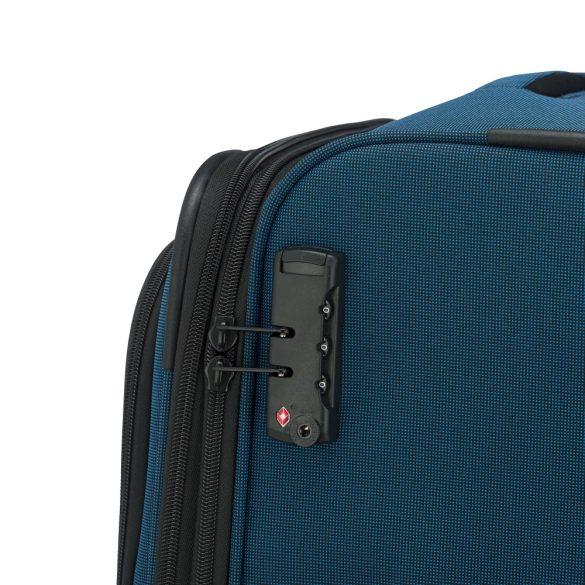 Bőrönd TRAVELITE Derby L kék 4 kerekű bővíthető nagy bőrönd