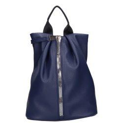 CHIARA I 515 Kék rostbőr női hátizsák