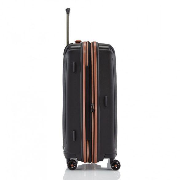 Bőrönd TITAN Paradoxx M fekete 4 kerekű bővíthető közepes méret