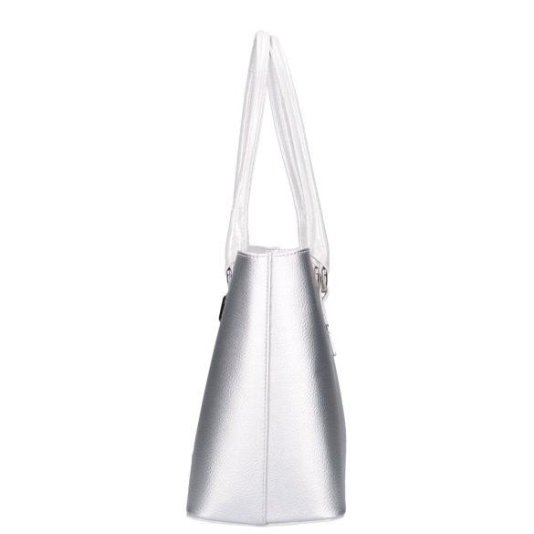 Táska Karen 1405 Ezüst-Fekete Rostbőr