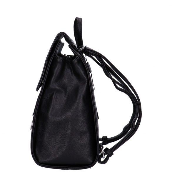 Hátizsák KAREN 9230 fekete virágos rostbőr A4-es