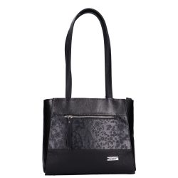 Táska KAREN 1450 BIS Fekete-virág rostbőr női
