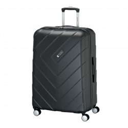 Bőrönd TRAVELITE Kalisto L antracit 4 kerekű nagy bőrönd