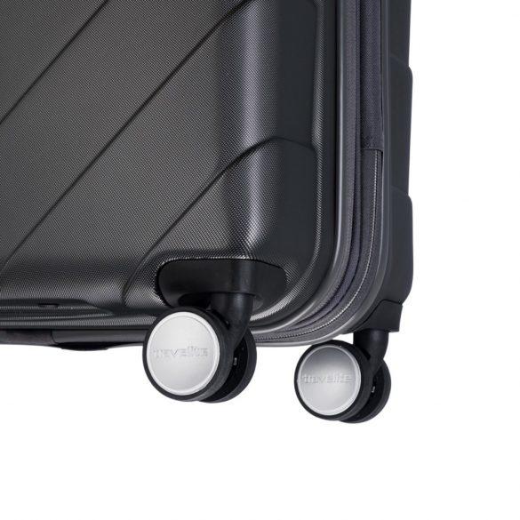 Bőrönd TRAVELITE Kalisto L antracit 4 kerekű nagy méret