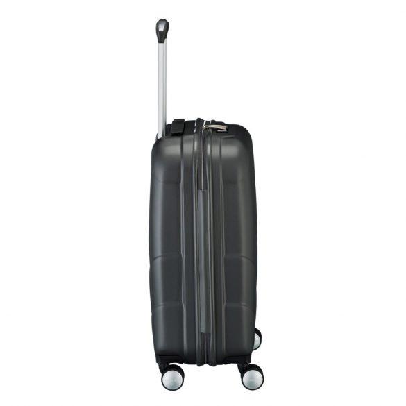 Bőrönd TRAVELITE Kalisto S antracit 4 kerekű kabin bőrönd