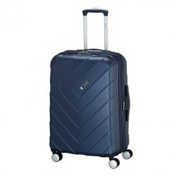 Bőrönd TRAVELITE Kalisto M kék 4 kerekű bővíthető közepes bőrönd