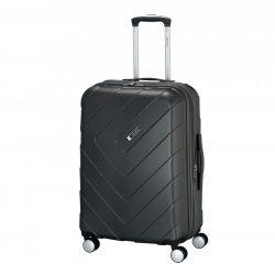 Bőrönd TRAVELITE Kalisto M antracit 4 kerekű bővíthető közepes bőrönd