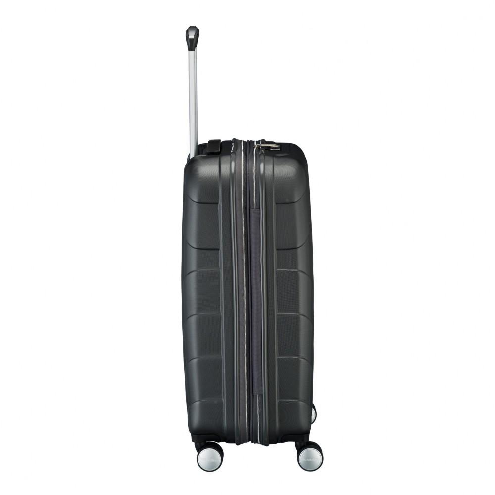 Travelite KALISTO M antracit négykerekű bővíthető közepes bőrönd ... f4c43f6dc5