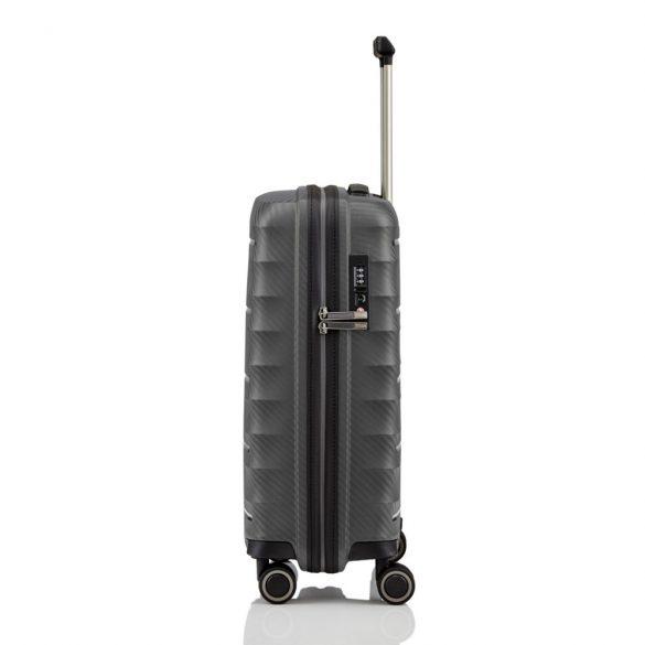 Bőrönd TITAN Highlight S antracit 4 kerekű extra könnyű kabin bőrönd