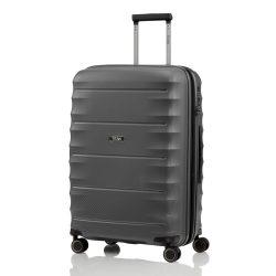 Bőrönd TITAN Highlight M antracit 4 kerekű közepes bőrönd