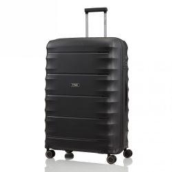 Bőrönd TITAN Highlight L fekete 4 kerekű nagy bőrönd