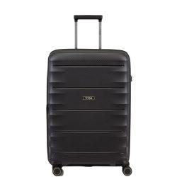 Bőrönd TITAN Highlight M fekete 4 kerekű közepes bőrönd