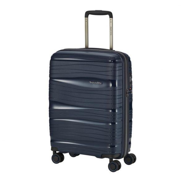 Bőrönd TRAVELITE Motion S kék 4 kerekű kabin bőrönd