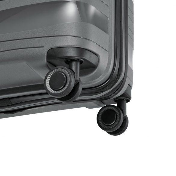 Bőrönd TRAVELITE Motion M antracit 4 kerekű bővíthető közepes bőrönd
