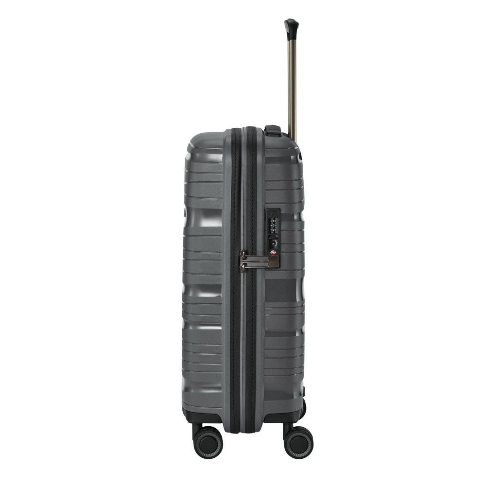 Travelite MOTION S antracit négykerekű extra könnyű kis kabin bőrönd ... c2f78b29d0
